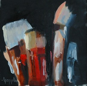 """""""TOOLS OF MY OBSESSION 2"""" original fine art by Linda Popple"""