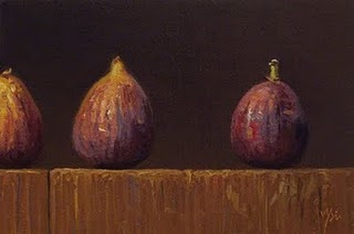 """Three Figs I"" original fine art by Abbey Ryan"
