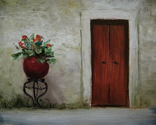 """""""'Red Planter'"""" original fine art by Justin Clements"""