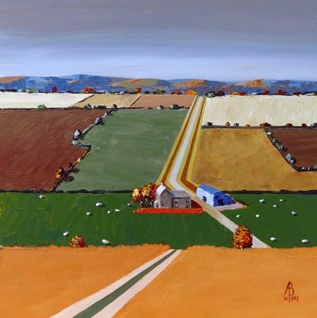 """Autumn zigzag"" original fine art by Alix Baker PCAFAS AUA"