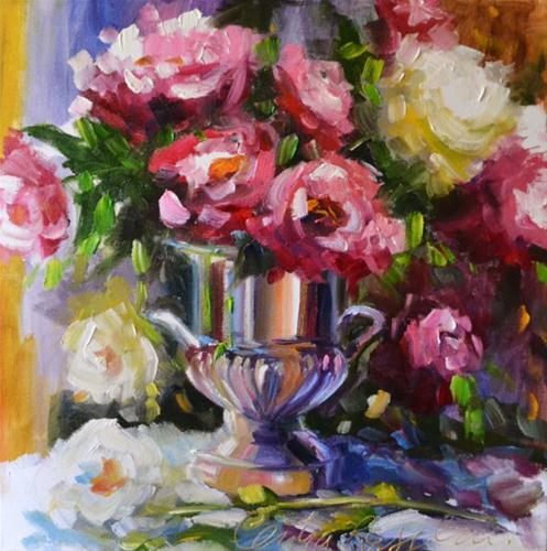 """URN REFLECTIONS"" original fine art by Cecilia Rosslee"