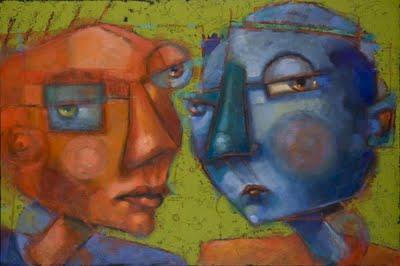 """Flipside"" original fine art by Brenda York"