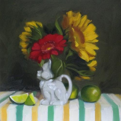 """""""Kitty Pitcher preparing for Gallery + debut at 78th"""" original fine art by Diane Hoeptner"""
