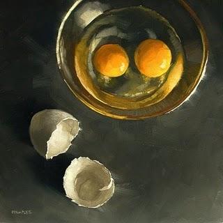 """Double Yolk"" original fine art by Michael Naples"