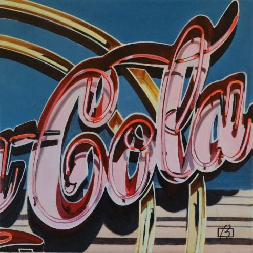 """Cola Neon"" original fine art by Andre Beaulieu"
