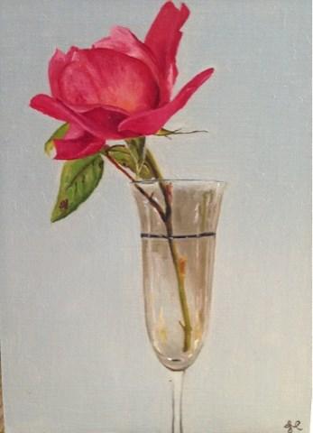 """Rose"" original fine art by James Coates"