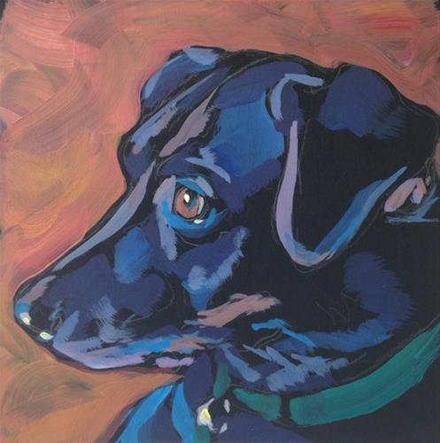 """""""Ears Alert"""" original fine art by Kat Corrigan"""