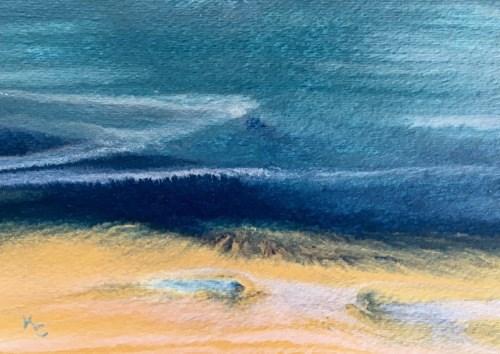 """Ocean, Abstract Seascape Painting, Beach, Coastal Art Beach Bash Sale #7 by International Contempo"" original fine art by Kimberly Conrad"