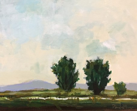 """""""cyan sky"""" original fine art by Pamela Munger"""