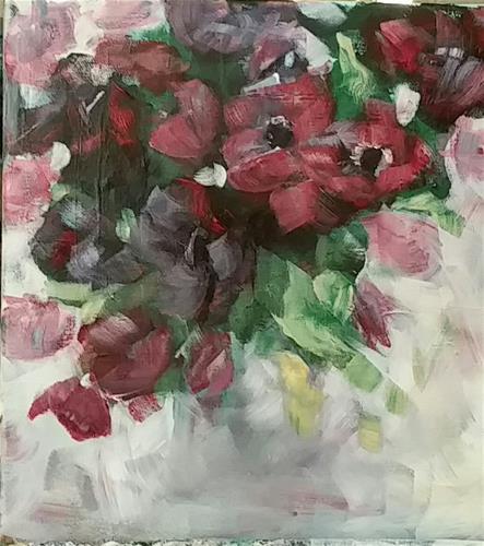 """""""Springflowers"""" original fine art by Sabine Hüning"""