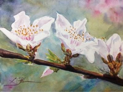 """#3/30 I 30 - Cherries"" original fine art by Lyn Gill"