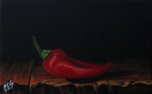 """""""Chili Pepper I"""" original fine art by ~ces~ Christine E. S. Code"""
