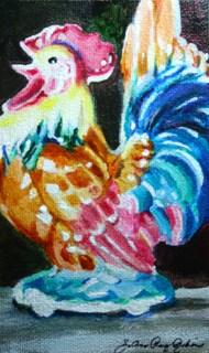 """""""Kitchen Chicken"""" original fine art by JoAnne Perez Robinson"""
