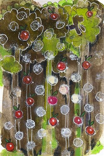 """""""The Apple Doesn't Fall Far from the Tree"""" original fine art by Tonya Doughty"""