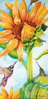 """Hummers"" original fine art by JoAnne Perez Robinson"