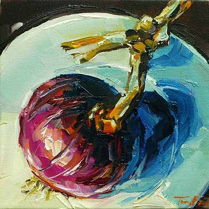 """Die Zwiebel"" original fine art by Jurij Frey"
