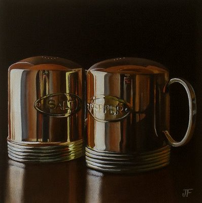 """Salt & Pepper"" original fine art by Jelaine Faunce"