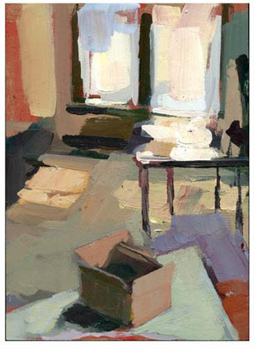 """#799 Box On the Floor"" original fine art by Lisa Daria"