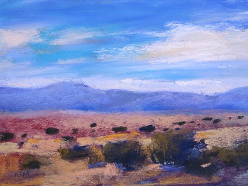 """In New Mexico and had to Paint!"" original fine art by Karen Margulis"