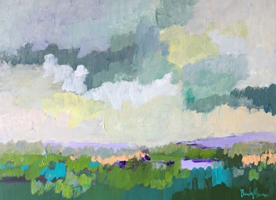 """April Green"" original fine art by Pamela Munger"
