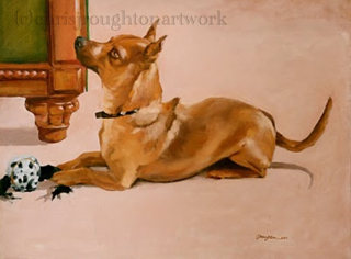 """Brooks"" original fine art by C J Roughton"