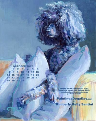 """October Desktop Calendar"" original fine art by Kimberly Santini"