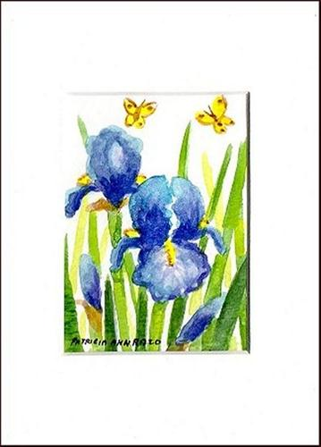 """Blue Iris"" original fine art by Patricia Ann Rizzo"