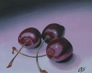 """""""Cherry Trio"""" original fine art by ~ces~ Christine E. S. Code"""