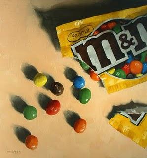 """""""Spilled M&M's"""" original fine art by Michael Naples"""
