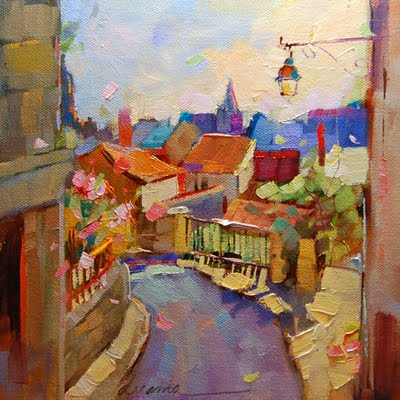 """""""My Heart's Already There--La France"""" original fine art by Dreama Tolle Perry"""