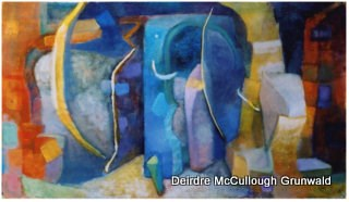 """Dream Door(AKA Passageways)"" original fine art by Deirdre McCullough Grunwald"