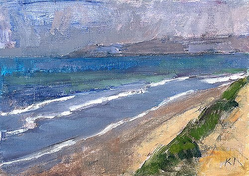 """Del Mar Bluffscape"" original fine art by Kevin Inman"