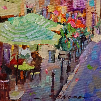 """""""France, Color, You 'n' Me SOLD"""" original fine art by Dreama Tolle Perry"""