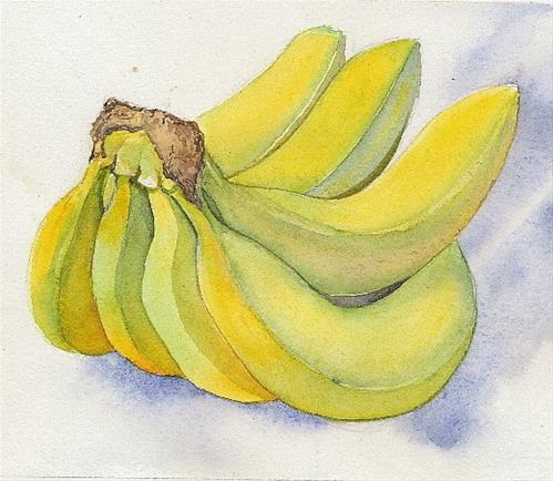 """Bananas"" original fine art by Carole Baker"