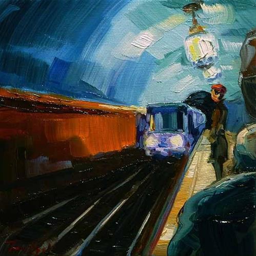 """Metro 3"" original fine art by Jurij Frey"