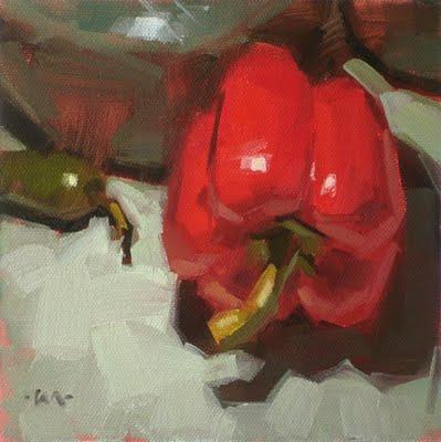 """Negative Space"" original fine art by Carol Marine"
