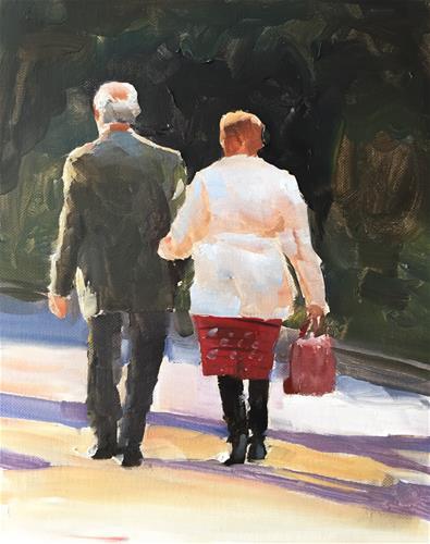 """Autumn Stroll"" original fine art by James Coates"