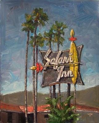 """Safari Inn"" original fine art by Raymond Logan"
