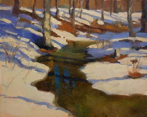 """More snow, please"" original fine art by Kathy Weber"