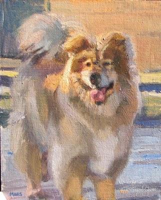 """Mars Dog"" original fine art by V.... Vaughan"