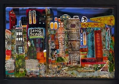 """Sing Song City"" original fine art by Kelly Alge"
