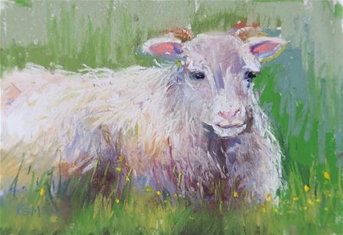 """""""Icelandic Sheep l"""" original fine art by Karen Margulis"""