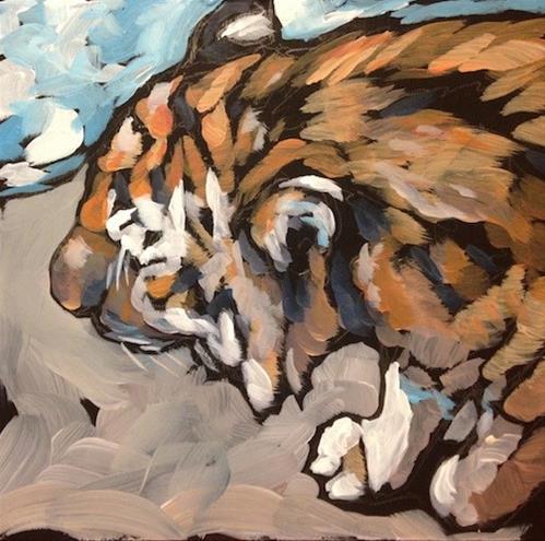 """On The Prowl"" original fine art by Kat Corrigan"