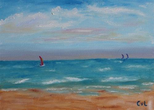"""Afternoon sailing"" original fine art by Conny van Leeuwen"