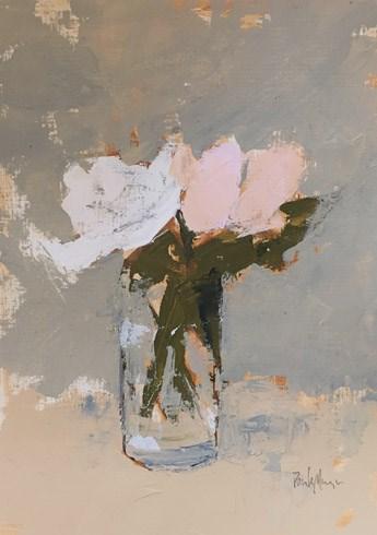 """Pink and White Floral"" original fine art by Pamela Munger"