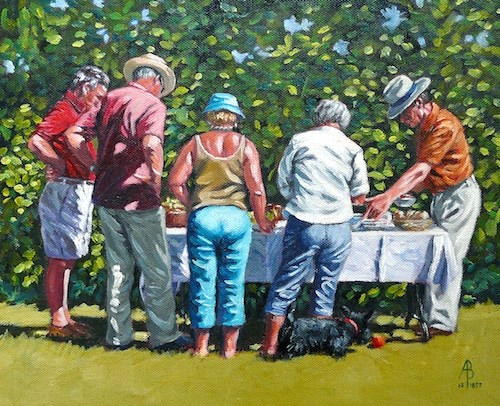 """""""Summer lunch"""" original fine art by Alix Baker PCAFAS AUA"""