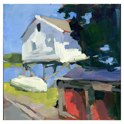 """House on the Marsh #795"" original fine art by Lisa Daria"