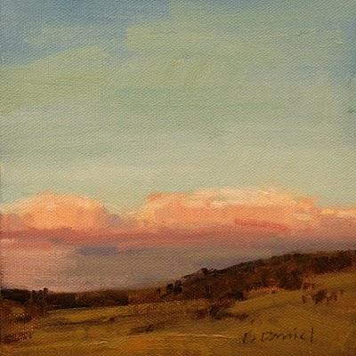 """Rosy Billows (Study)"" original fine art by Laurel Daniel"