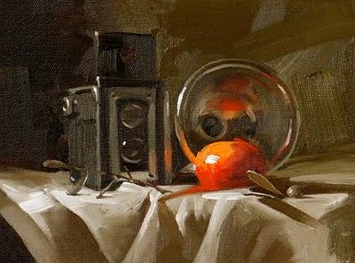"""""""Old Tech"""" original fine art by Qiang Huang"""