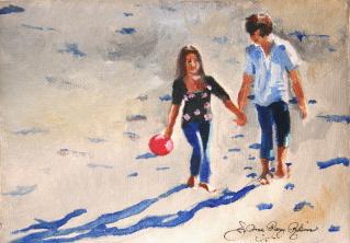 """""""Young Love"""" original fine art by JoAnne Perez Robinson"""